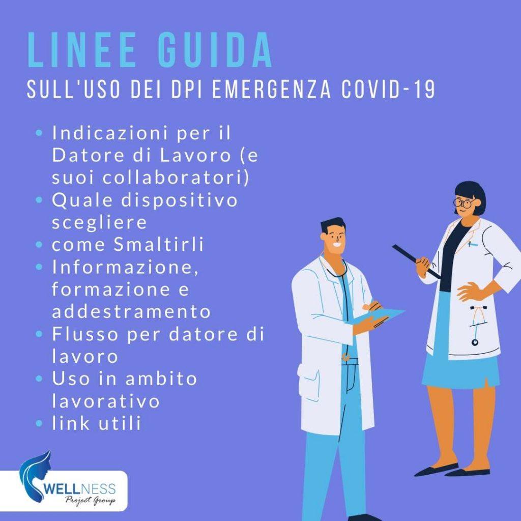 linee guida DPI quadrate Wellness Project Group